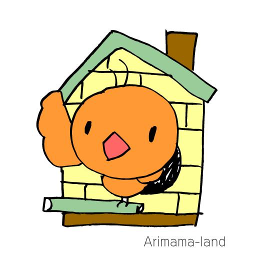 小鳥と鳥小屋描いてみました!!