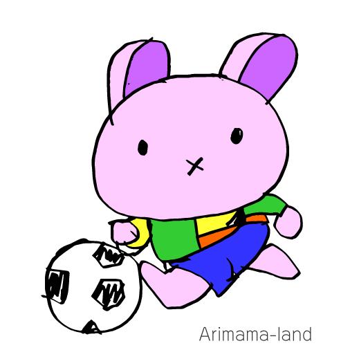 サッカーうさぎ描いてみました!!