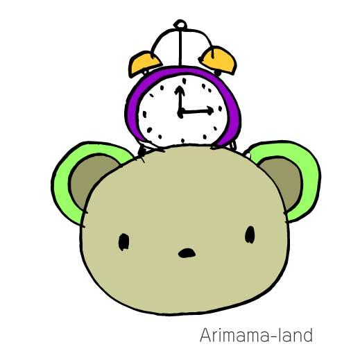 目覚まし時計クマさん描いてみました!!
