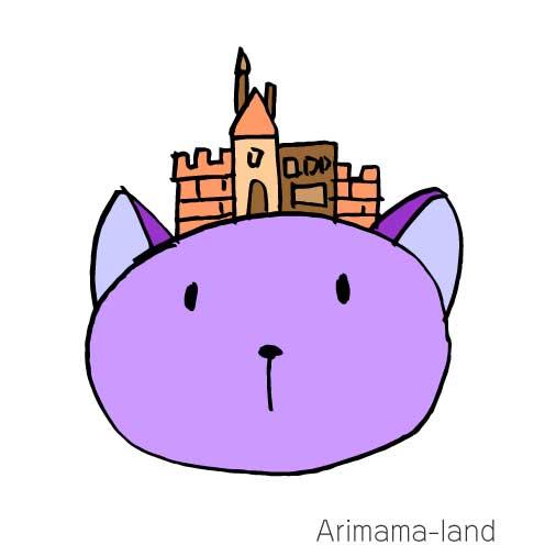 お城帽子ねこを描いてみました!!