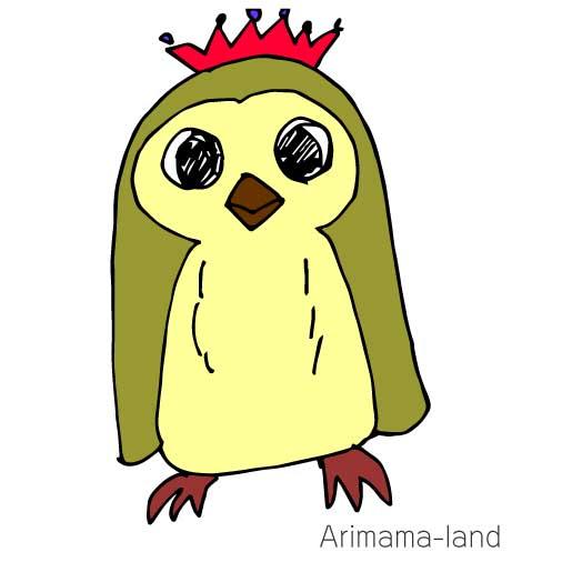 1分動画!ティアラをつけたペンギン描いてみました