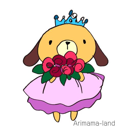プリンセスうさぎさん描いてみました!!