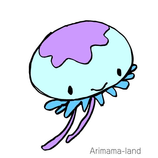可愛いクラゲ描いてみました!!